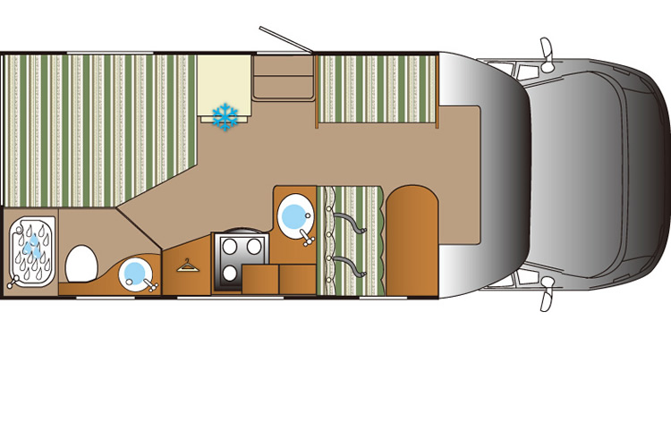Auto Roller 694 Day Floor Plan